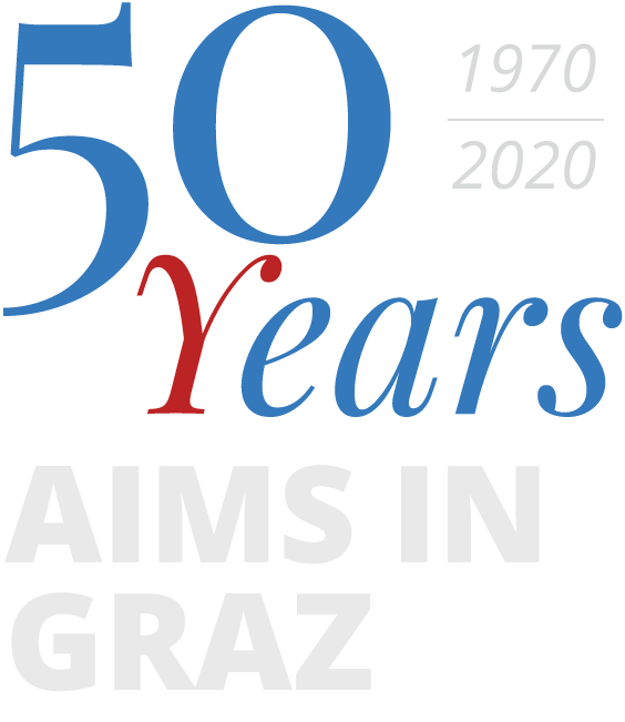 Logo AIMS in Graz 50 Years