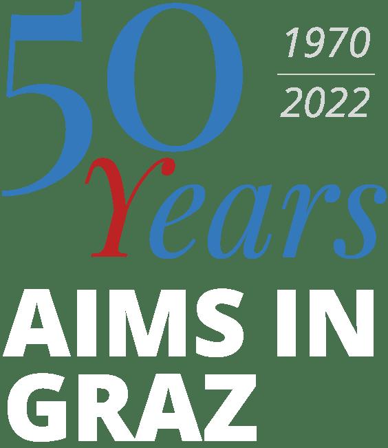 AIMS in Graz Logo 50 Jahre